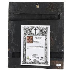 Icona antica restaurata Santa Trinità 30x25 cm Russia s4