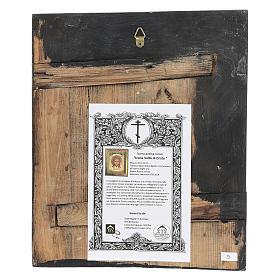 Icona antica restaurata Volto di Cristo 30x25 cm Russia s4