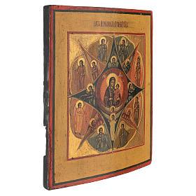Icona russa antica dipinta Roveto Ardente 30x25 cm s3