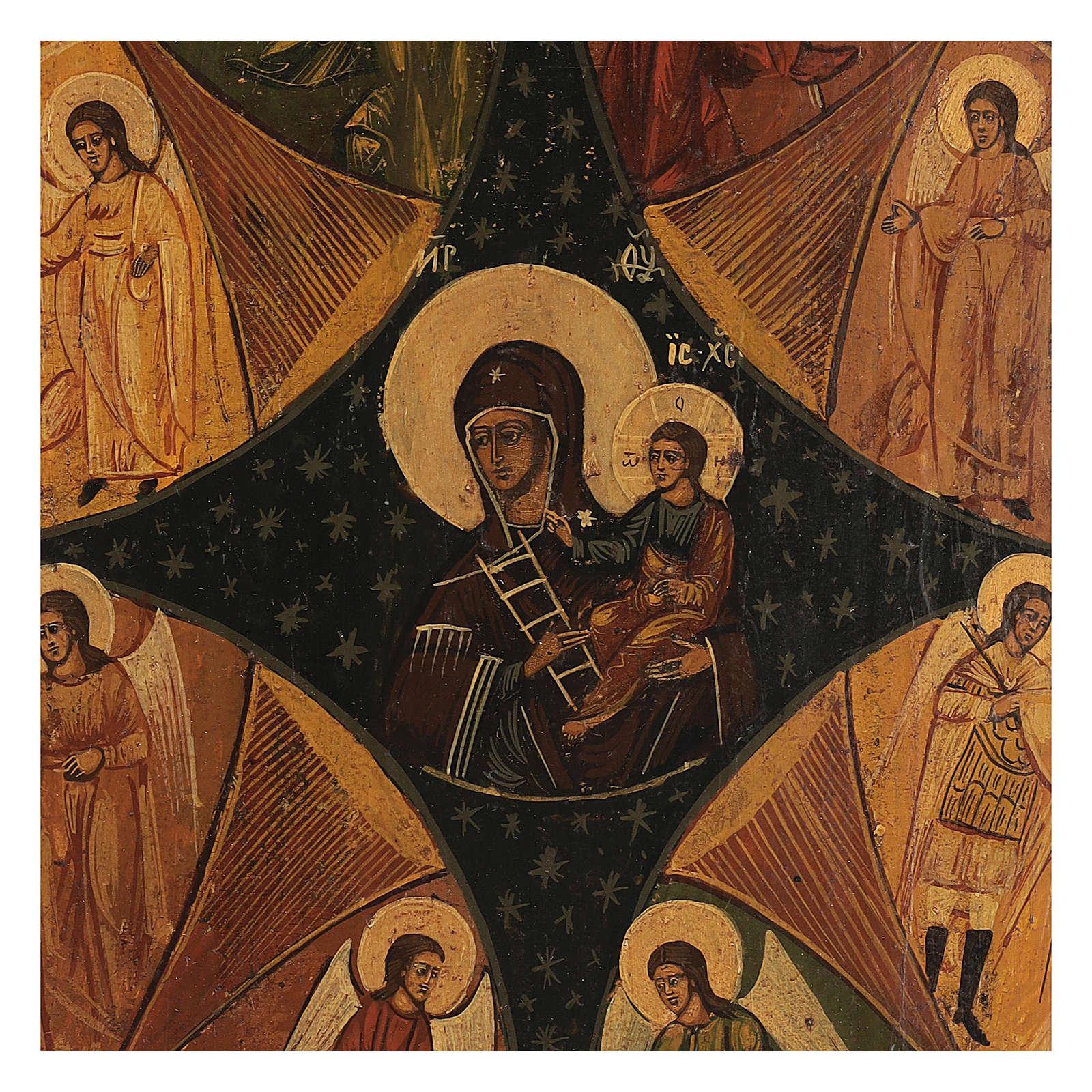 Antique Russian icon Unburnt Bush restored, 40x35 cm 4