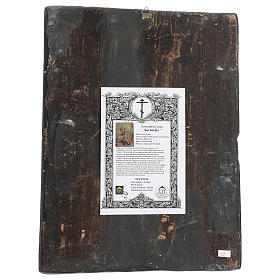 Icona antica San Giorgio dipinta restaurata 40x30 cm Russia s4