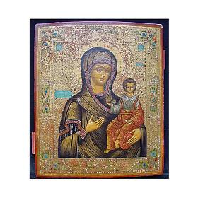 Icona Russia Antica Madre Dio Smolensk metà XIX sec 30x25 cm s1