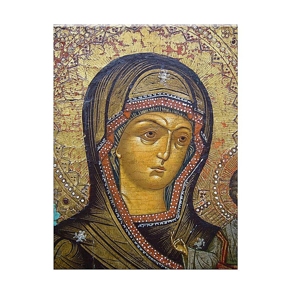 Antique Russian icon, Smolensk mid XIX century 30x25 cm 4