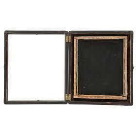 Icona Russa Antica Madre Dio Iver Teka vetro metà 800 25x20 cm s12