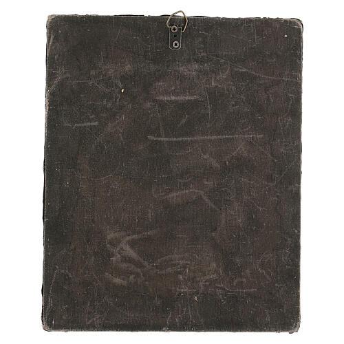 Icona Russa Antica Madre Dio Iver Teka vetro metà 800 25x20 cm 14