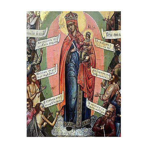 Icône russe ancienne Jaroslav Joie de Tous les Affligés XIX siècle 30x25 cm 2