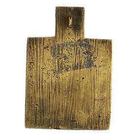 Bronze ancien icône Russie Trinité XVIII siècle 5x5 cm s3