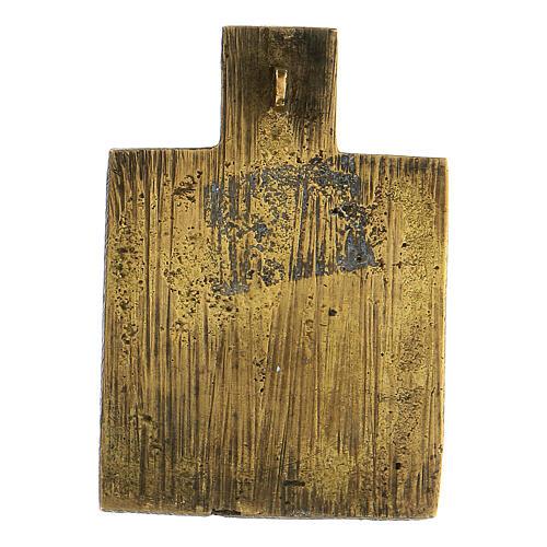 Bronze ancien icône Russie Trinité XVIII siècle 5x5 cm 3
