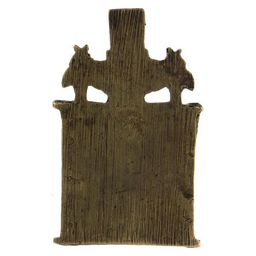 Icône bronze Saint Nicolas XIX siècle Russie 10x5 cm 3