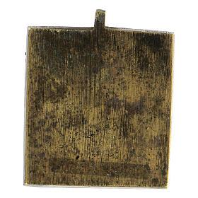 Icona Gioia degli Afflitti bronzo smaltato Russia XIX sec 5x5 cm s3
