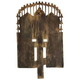 Croce del Patriarca smalto blu Russia XIX sec 40x20 cm s4