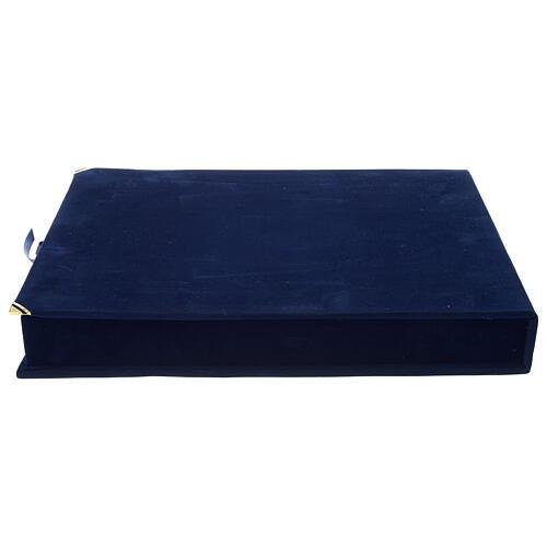 Croce del Patriarca smalto blu Russia XIX sec 40x20 cm 6