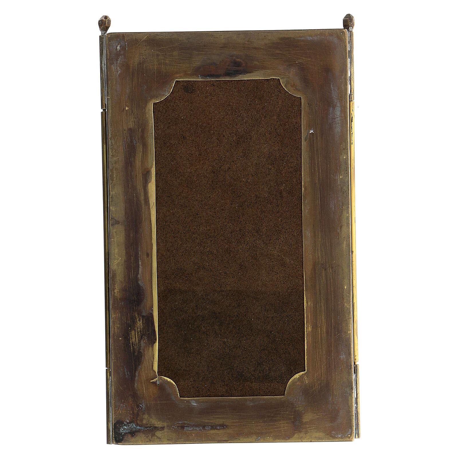 Triptyque de voyage Source de vie Russie XVIII siècle 20x20 cm 4