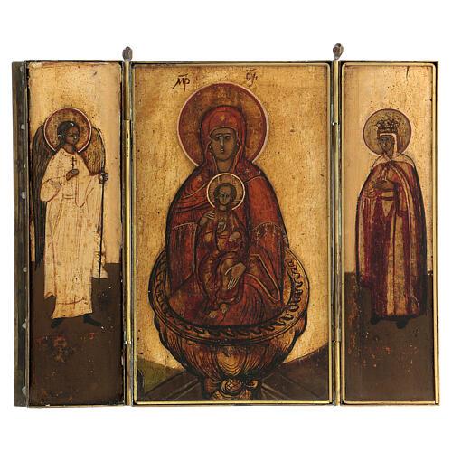 Triptyque de voyage Source de vie Russie XVIII siècle 20x20 cm 1