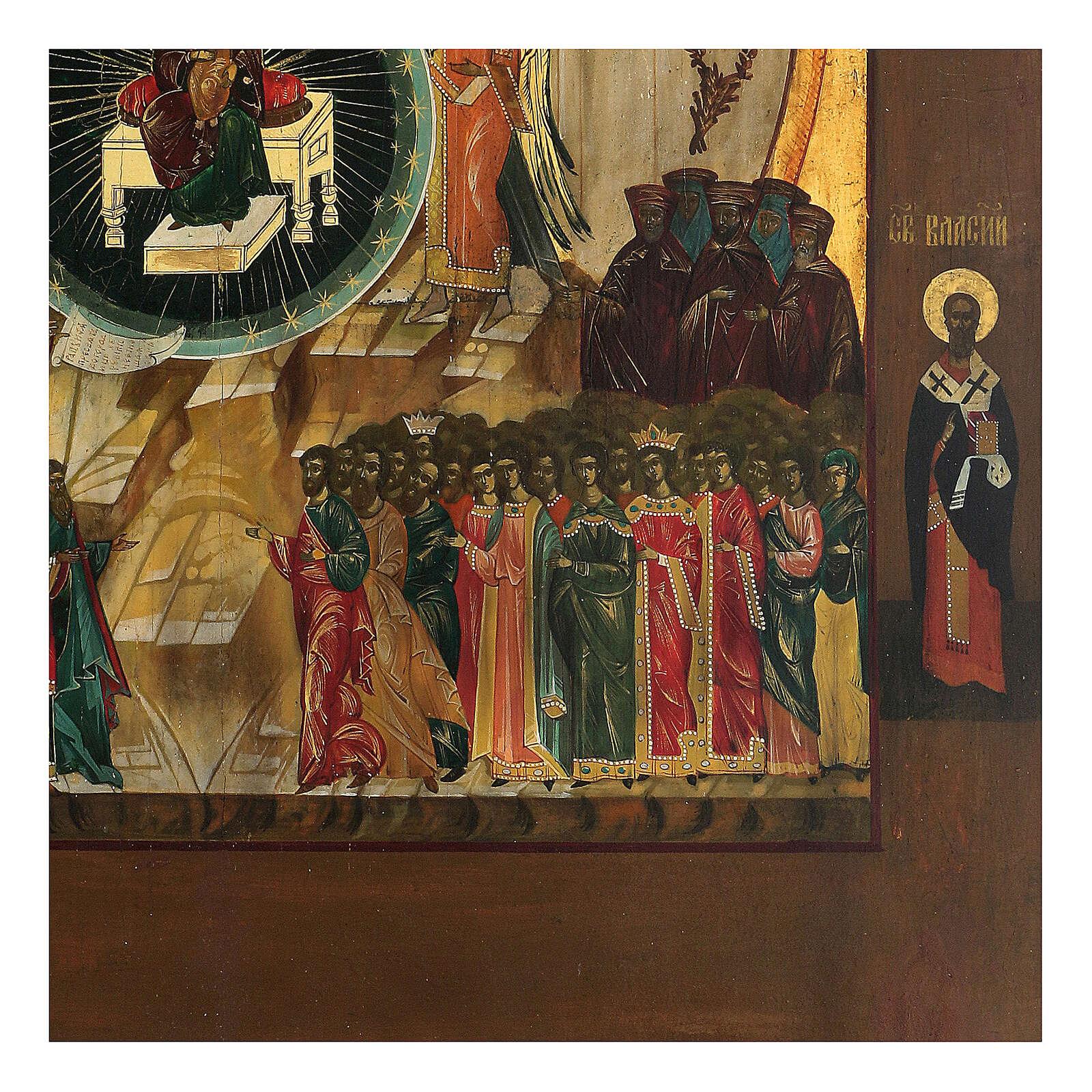 Icona Russia In Te Si Rallegra XIX sec 50x40 cm 4