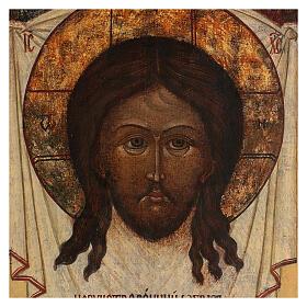Cristo Acheropita icona russa antica 40x30 cm s2