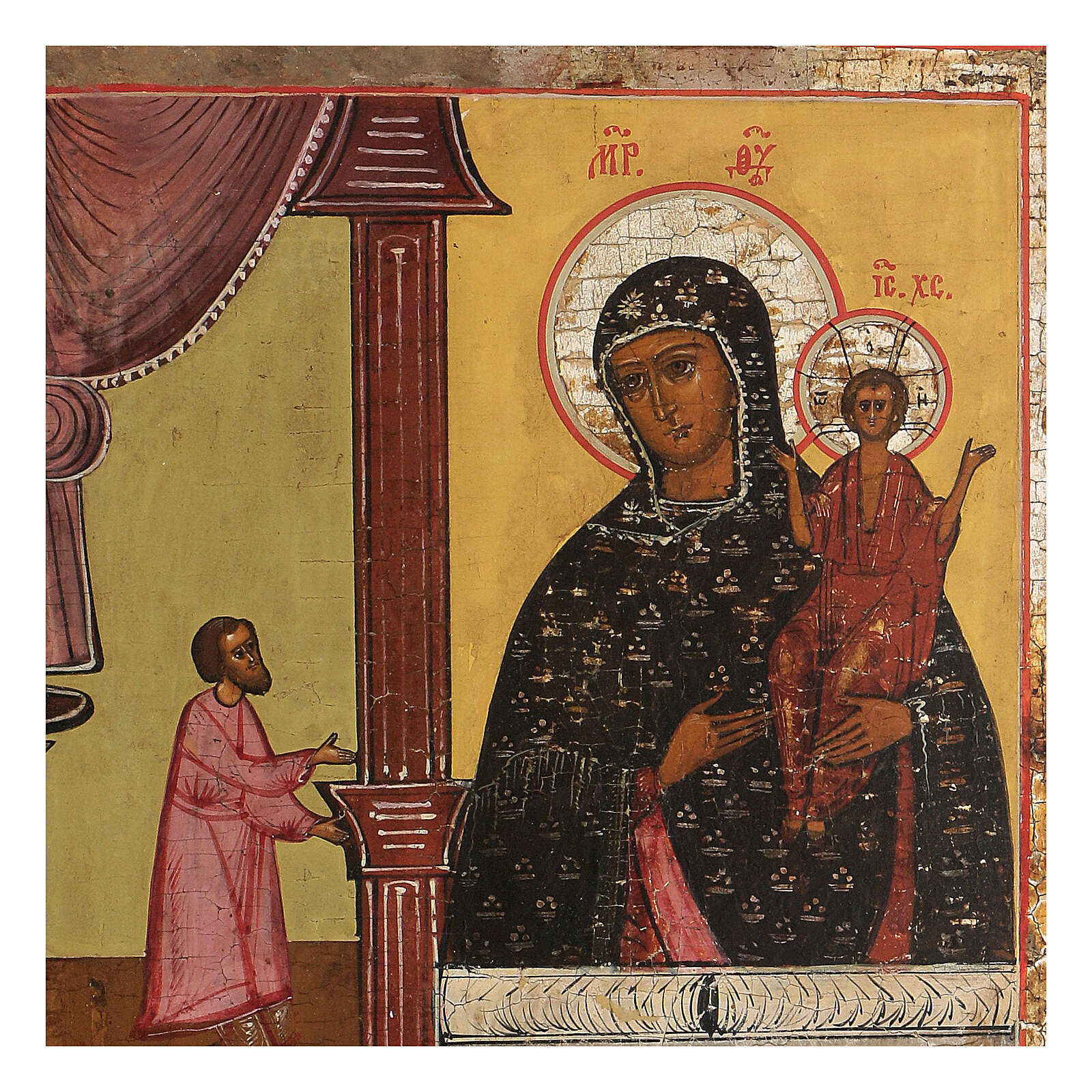 Icona antica Inaspettata Gioia XIX sec Russia 4