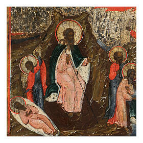 Icona russa Ascesa in Cielo del Profeta Elia antica XIX sec s2