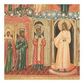 Icône ancienne Mère de Dieu Pokrov Russie XVIII siècle s3