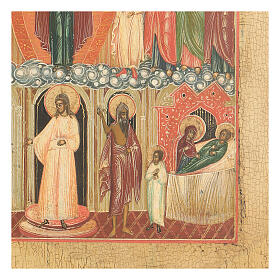 Icona antica Madonna Pokrov Russia XVIII sec s4