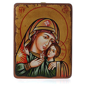Rumanian hand-painted icons: Mother of God of Korsun icon