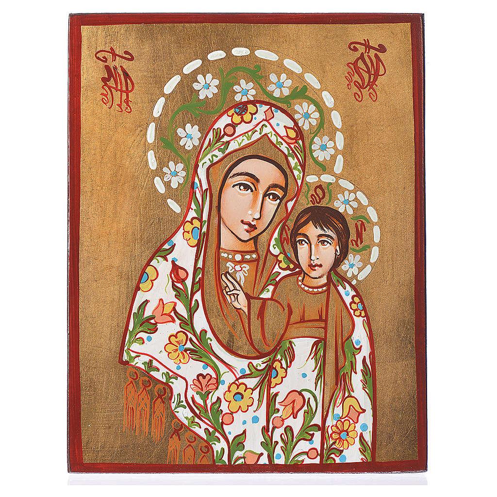Icona Madre di Dio di Kazan manto decorato 4