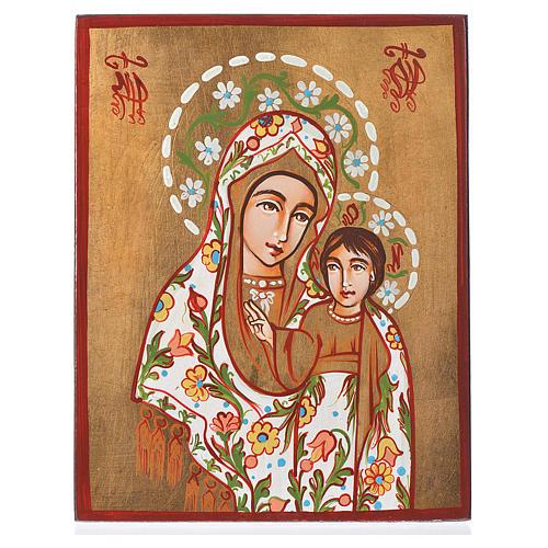 Icona Madre di Dio di Kazan manto decorato 1