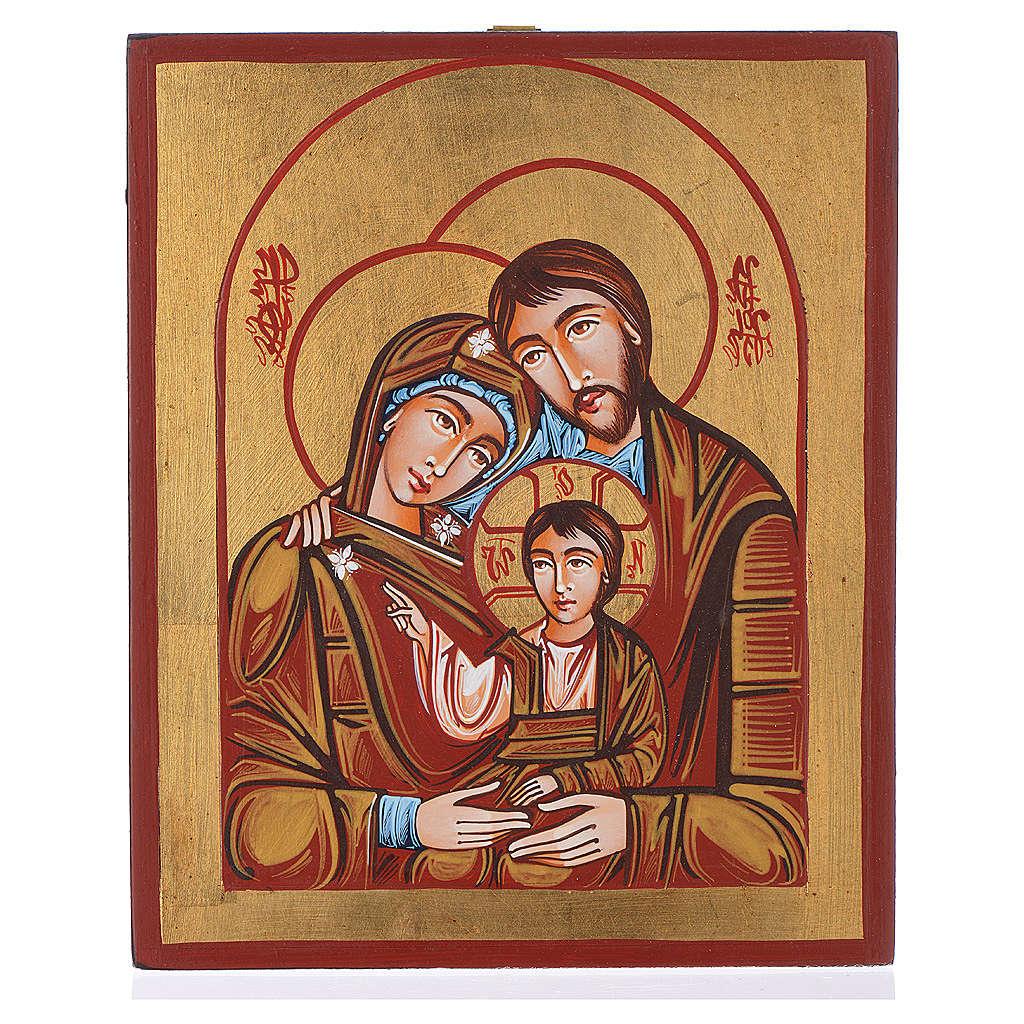 Icona Sacra famiglia dipinta a mano 4