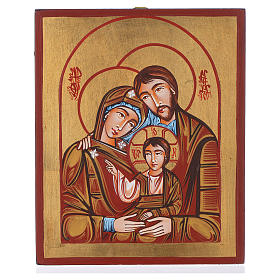 Icona Sacra famiglia dipinta a mano s1
