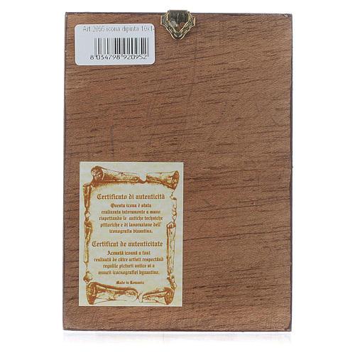 Icône du Christ Pantocrator livre ouvert dorée 3