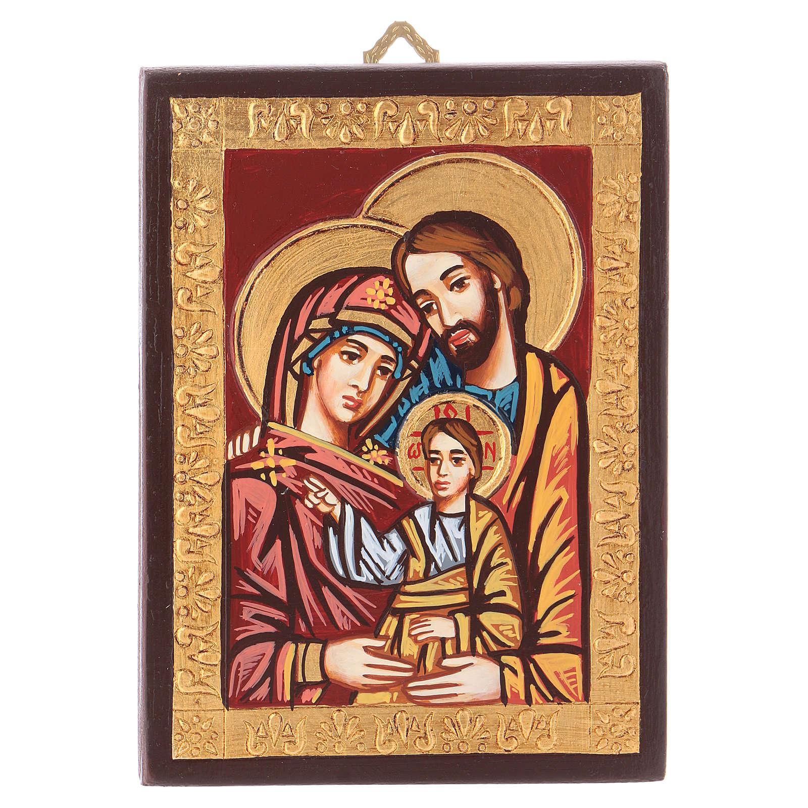 Ícono Rumanía Sagrada Familia borde decorado 4