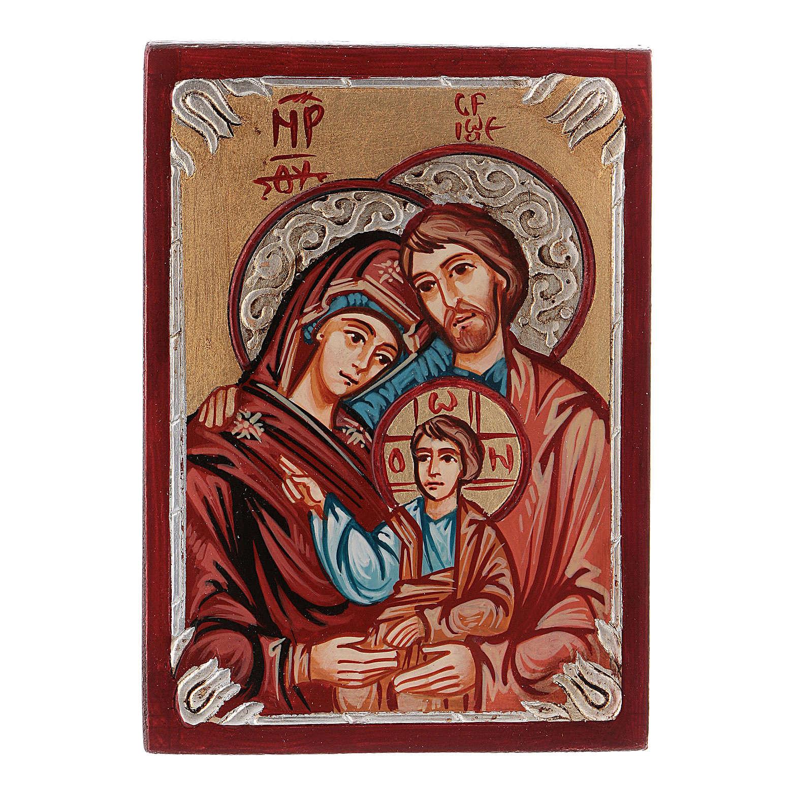 Icona rumena Sacra Famiglia dipinta 4
