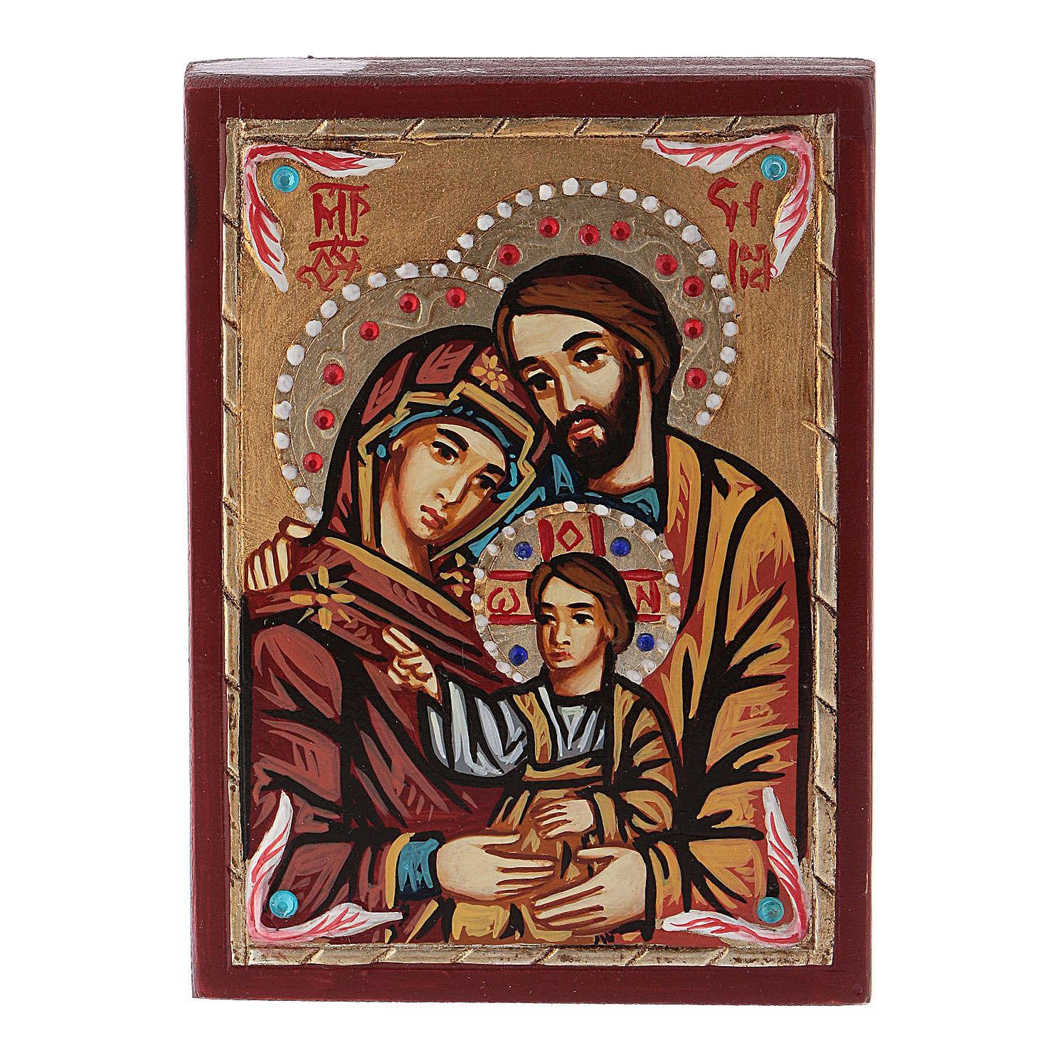 Icône Roumanie peinte Sainte Famille 4