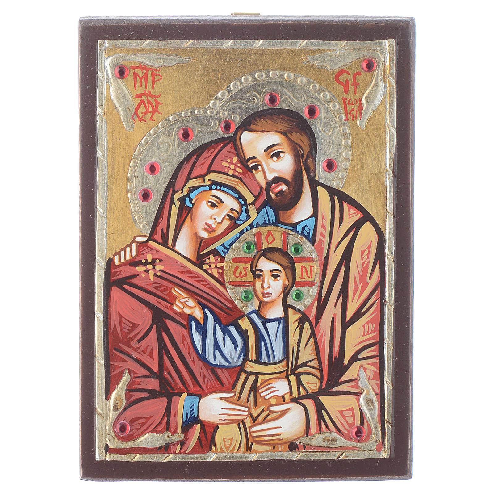 Icona Romania dipinta Sacra Famiglia 4