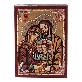 Icona Romania dipinta Sacra Famiglia s1