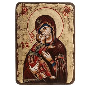 Rumanian hand-painted icons: Mother of God of Vladimir sacred icon, Romania