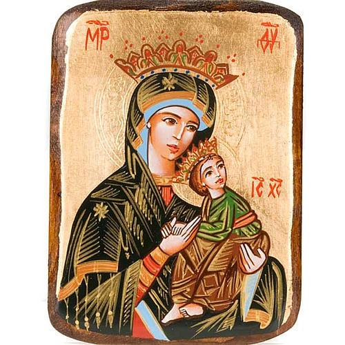 Icona Madre Dio Passione dipinta Romania 1