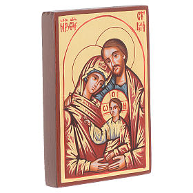 Holy Family icon red framed, Romania s2