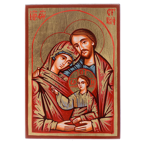 Holy Family icon red framed, Romania 1