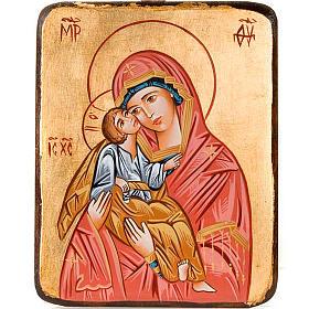 Icona Madonna della Tenerezza bordo irregolare s1