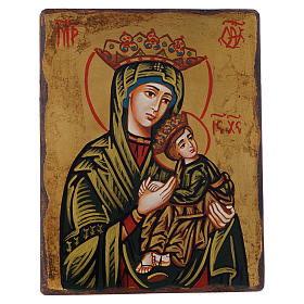 Rumanian hand-painted icons: Icon, Our Lady of the Passion with irregular edges
