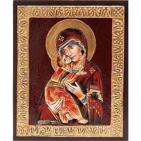 Icona Vergine di Vladimir in rilievo s1