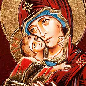 Icona Vergine di Vladimir in rilievo s3