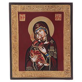 Icona Vergine di Vladimir in rilievo s5
