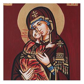 Icona Vergine di Vladimir in rilievo s6
