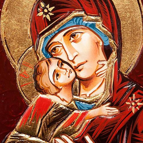 Icona Vergine di Vladimir in rilievo 3