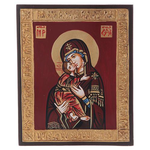 Icona Vergine di Vladimir in rilievo 5