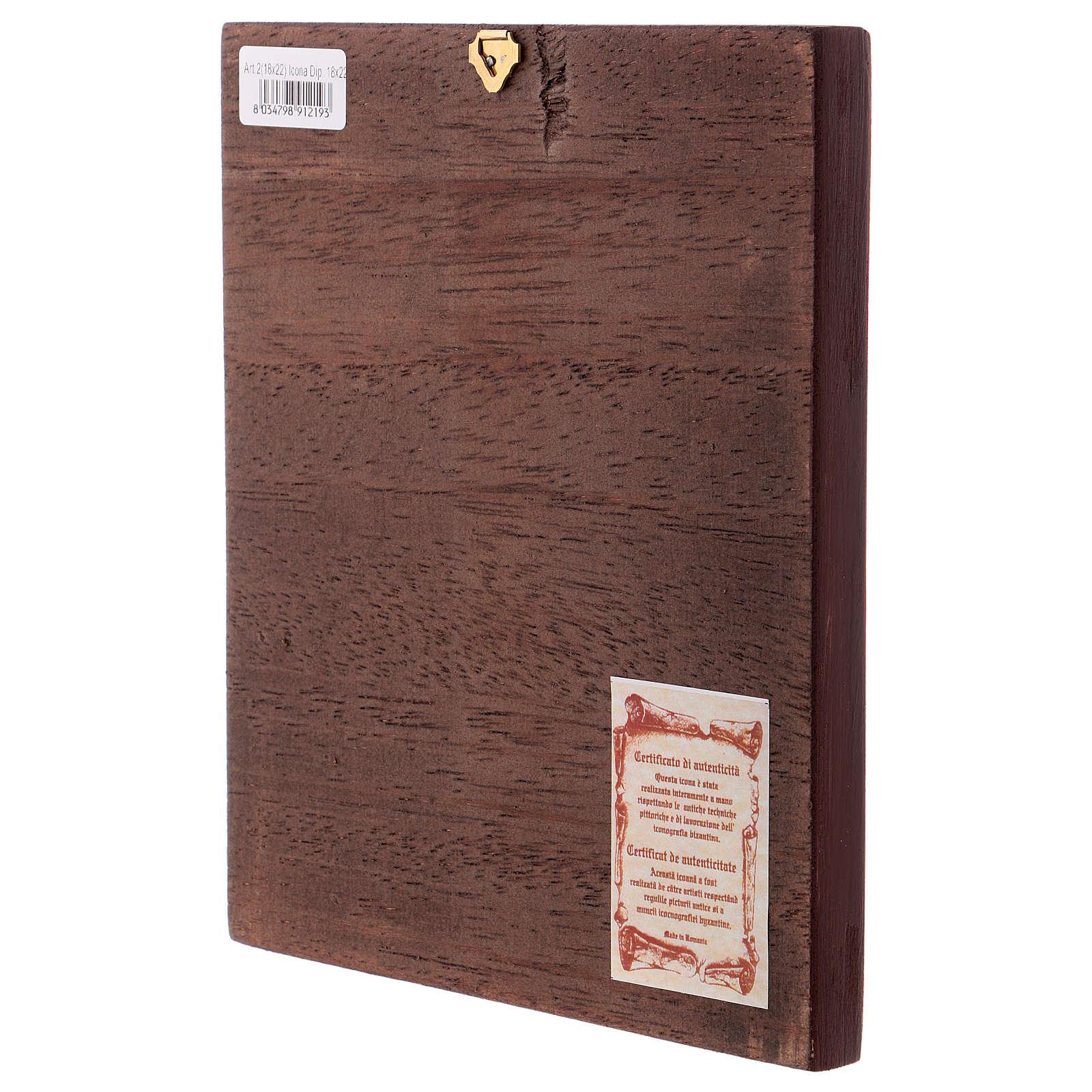 Ícono Pantocrátor fondo dordado libro abierto 4