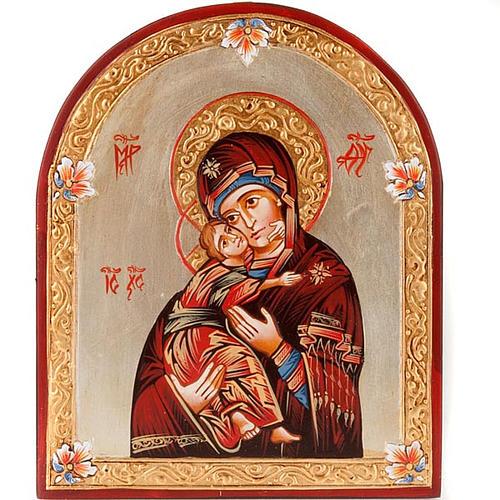 Icône Vierge du Don, bord en demi cercle 1
