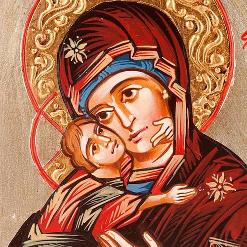 Icône Vierge du Don, bord en demi cercle 3